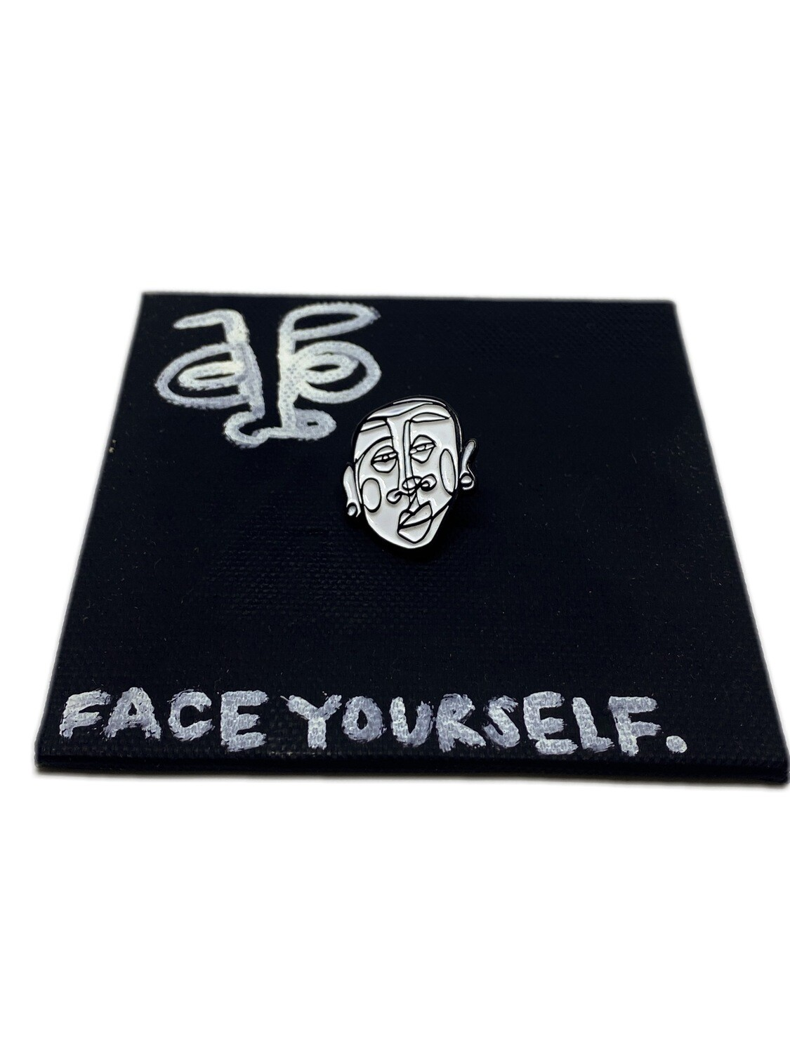 'Face Yourself' Lapel Pin