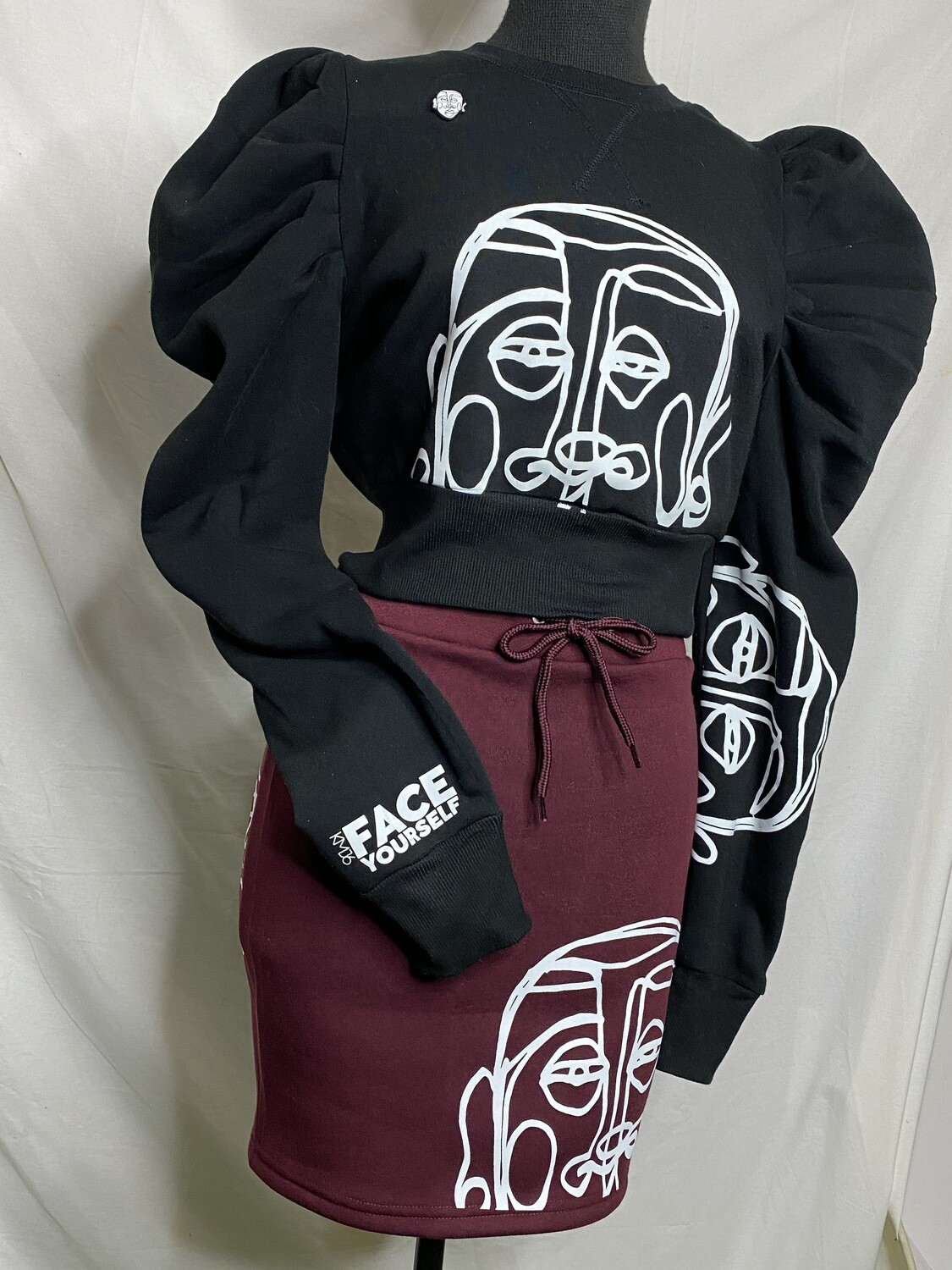 'Face Yourself' SweatSkirt