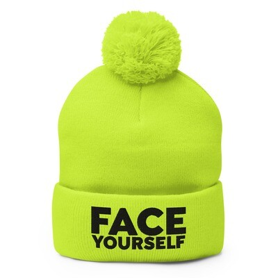 'Face Yourself'. Pom-Pom Beanie