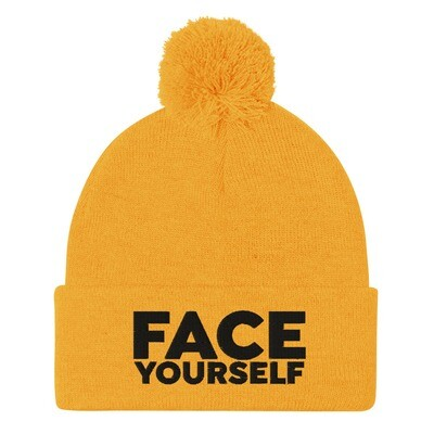 'Face Yourself'. Pom-Pom Beanie