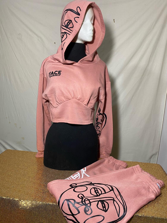 'Face Yourself' Light Pink 2 Piece