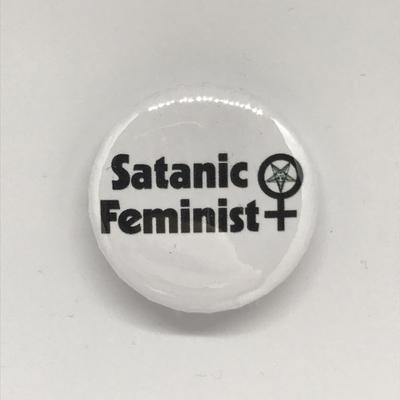 Satanic Feminist Button