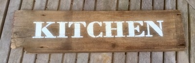 Kitchen Sign on Reclaimed Barn Board