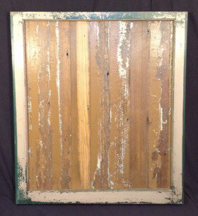Vintage Window Sash with Some Green
