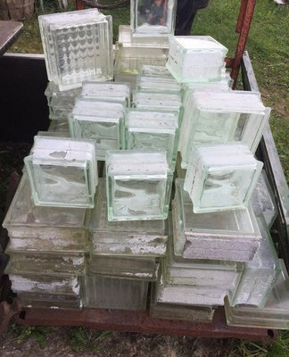 Vintage Glass Window Blocks