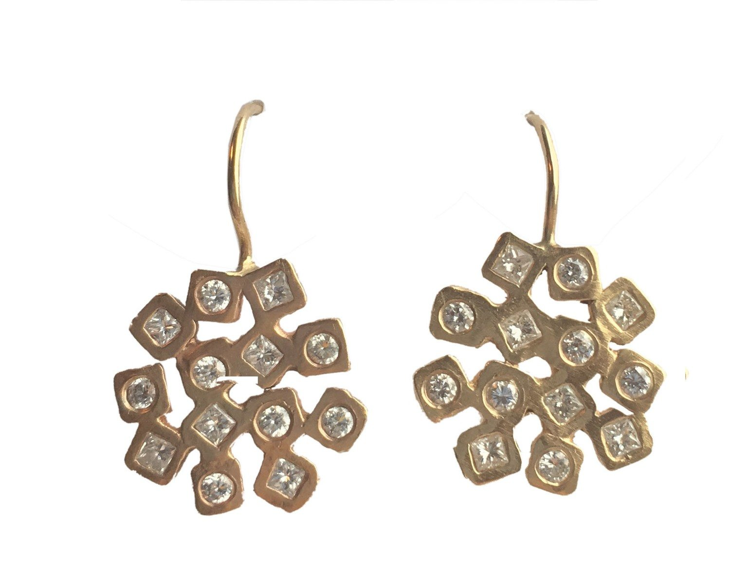 Diamond Cubist Earrings