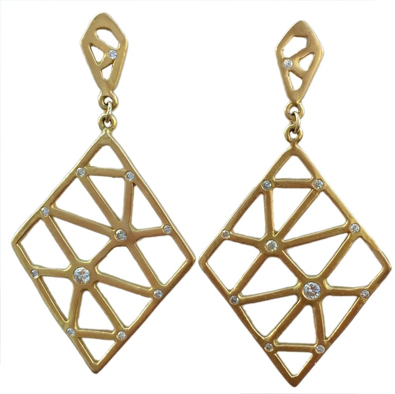 Double Rhombus Earrings