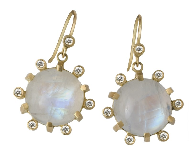 Aura Diamond Moonstones