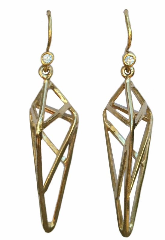 Rhombus Drop Earrings