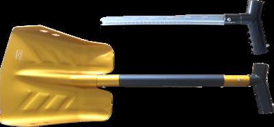 Лопата с телескопической ручкой и пилой