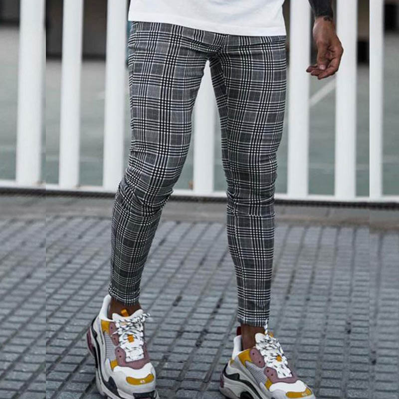 Sinners Prince Of Wales Check Grey Trouser EXA76DK09SDFM