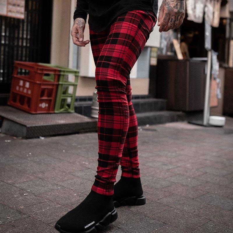 Sinners Red/Black Check Trouser HWCF8JRC8P8A8
