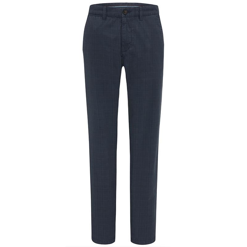 Fynch Hatton Check Trouser Midnight 9BASKN7TJCB90
