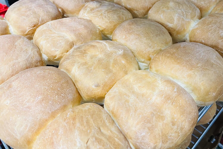 White Hamburger Buns