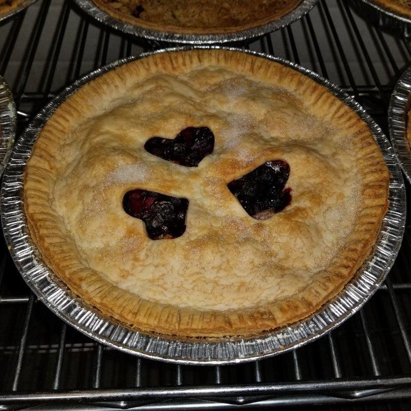 Saskatoon-Rhubarb Pie