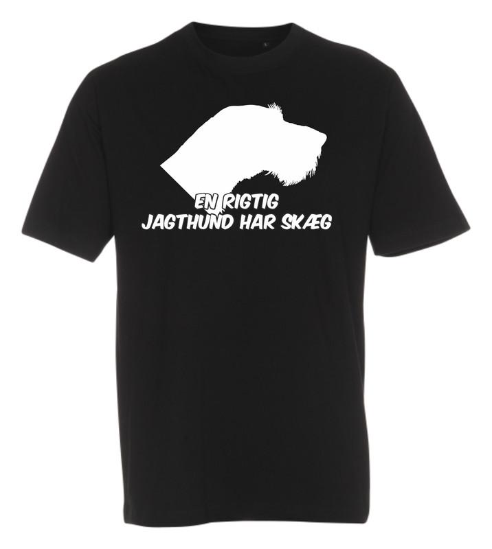 T-shirt med tryk fra XS til str. 4-XL - Tysk Ruhåret