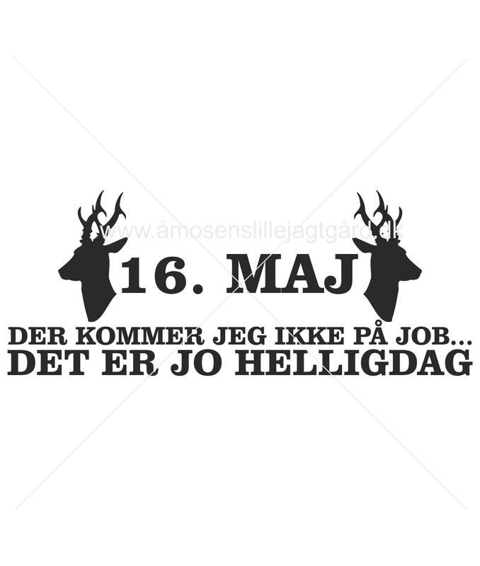 Folie-/Strygemærke - 16. maj