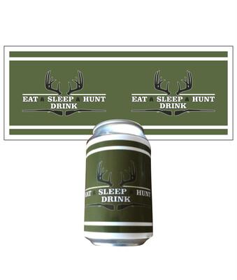 Klistermærke til dåser - Eat Sleep Hunt