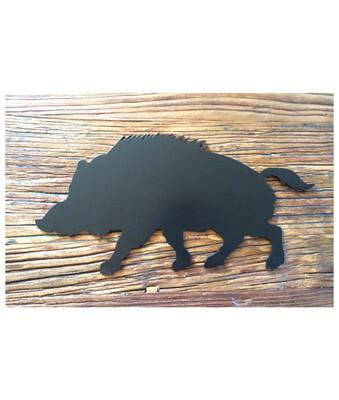 Udskåret dyr i stål - Vildsvin