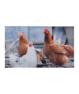 Dørmåtte med print af høns