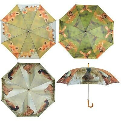 Paraply med print af vildt - AND