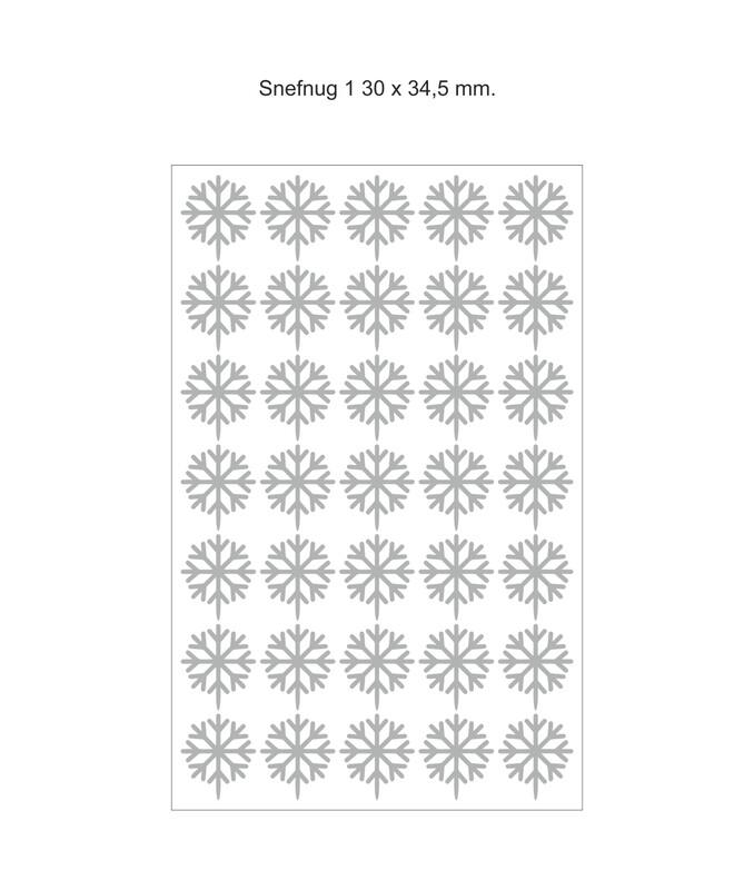 Chokomærker - Snefnug 1