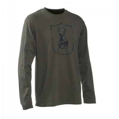 Deerhunter Logo T-Shirt L/Æ (Str. S+L+2XL)