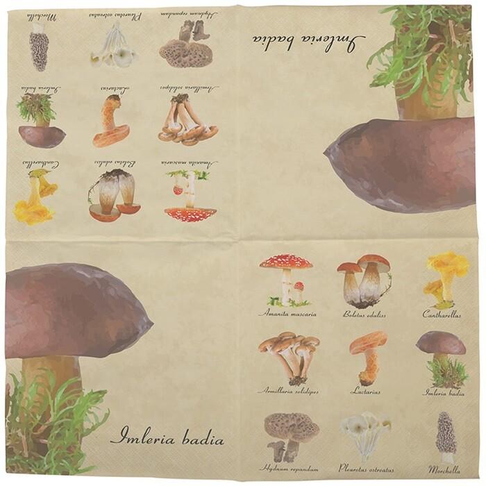 Servietter med svampe