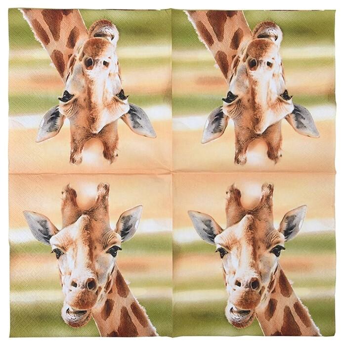 Servietter med Giraf