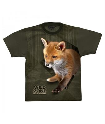 Little Hunter T-shirt med Ræv