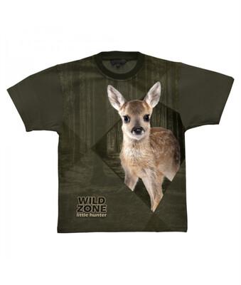 Little Hunter T-shirt med Rådyr