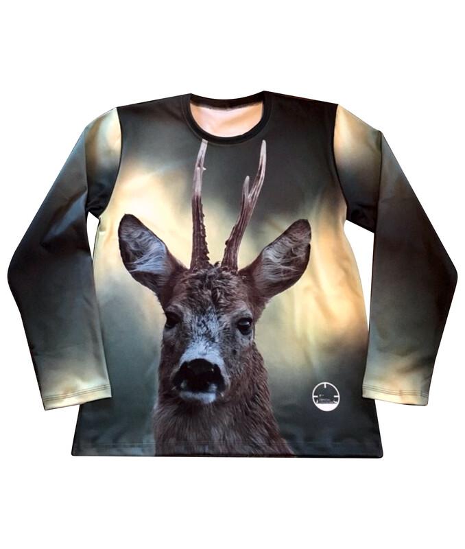Fuldfarvet langærmet T-shirt med DIT eget billede - Herre/Uni model