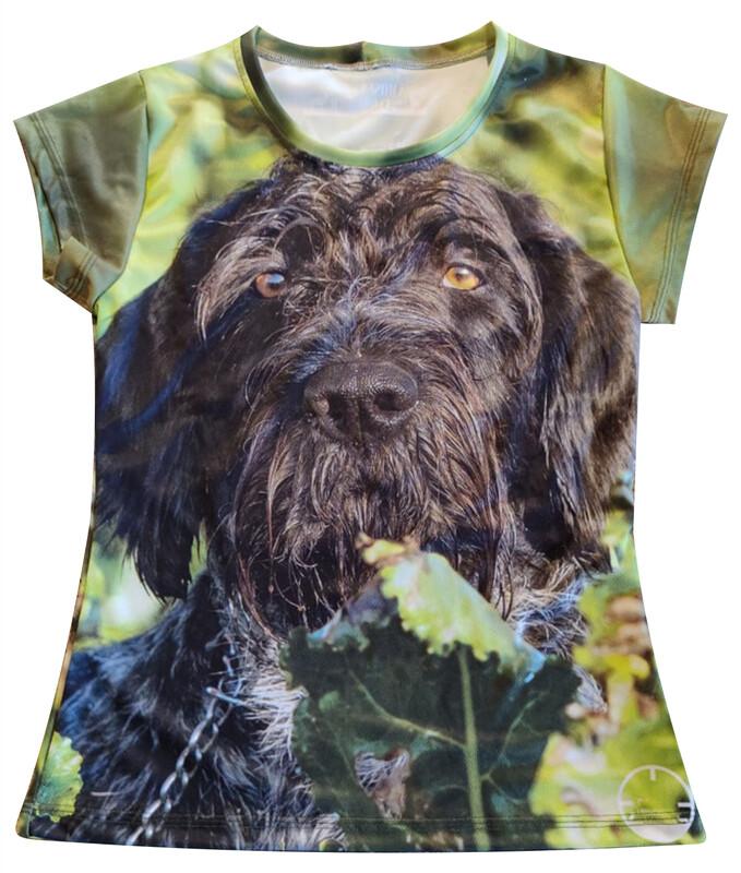 Fuldfarvet T-shirt med DIT eget billede - Dame model