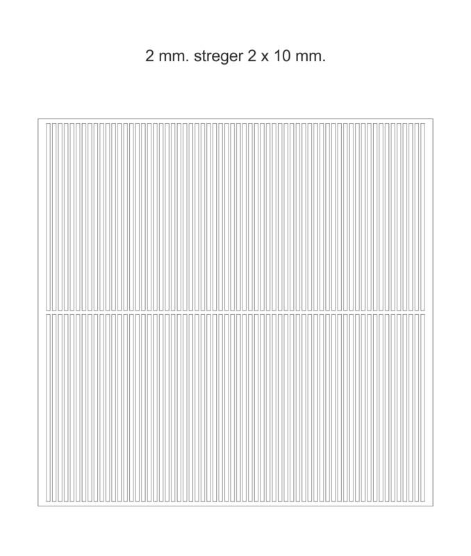 Chokomærker - 2 mm. streger