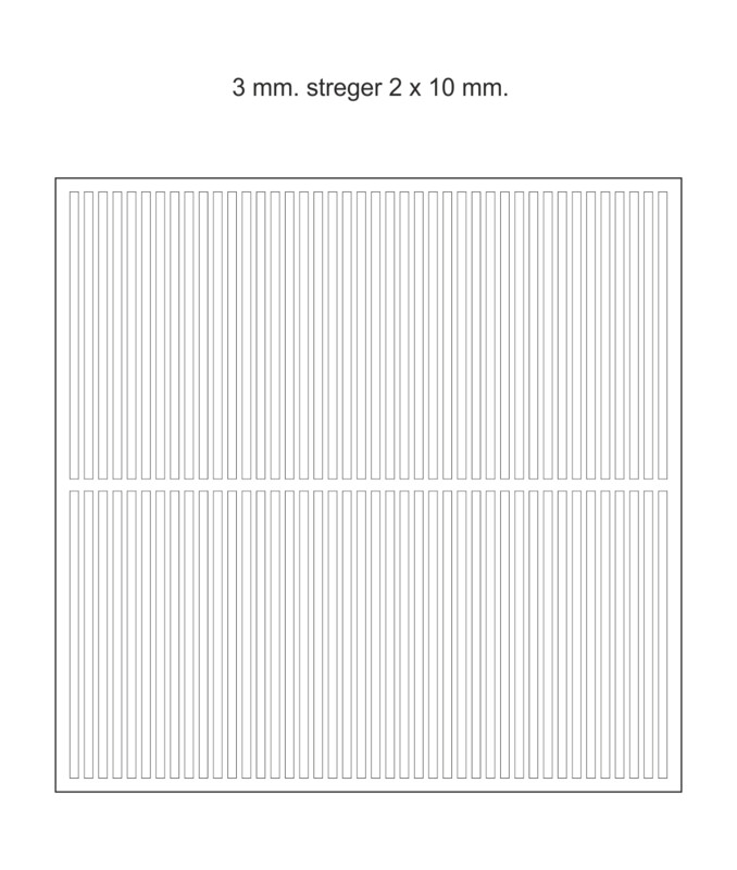 Chokomærker - 3 mm. streger