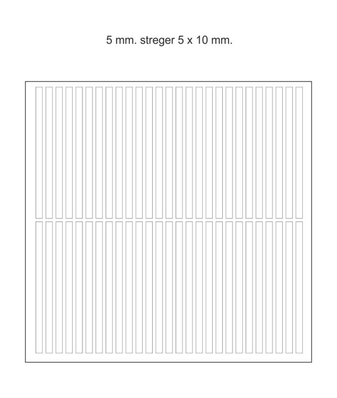 Chokomærker - 5 mm. streger