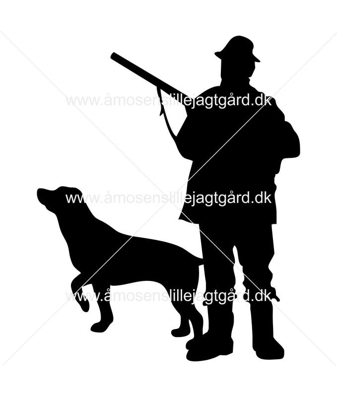 Foliemærke - Jæger med Labrador