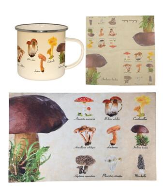 Sammenpak med print af svampe