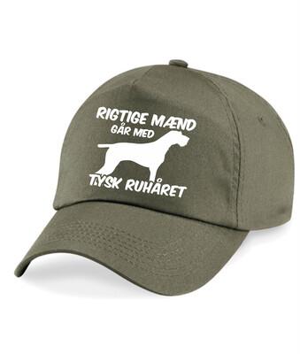 Caps med tryk - Rigtige mænd går med... - Forskellige