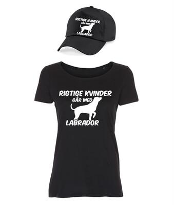 T-shirt og caps med tryk - Rigtige kvinder går med... - Forskellige