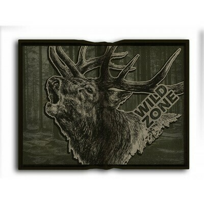 Foldbar pude med print af Kronhjort