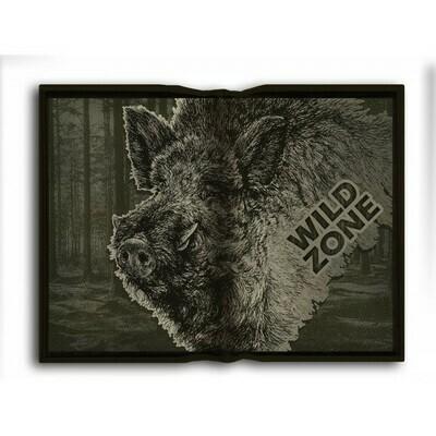 Foldbar pude med print af Vildsvin