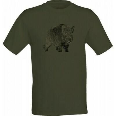 Wild Zone T-shirt med print af Vildsvin