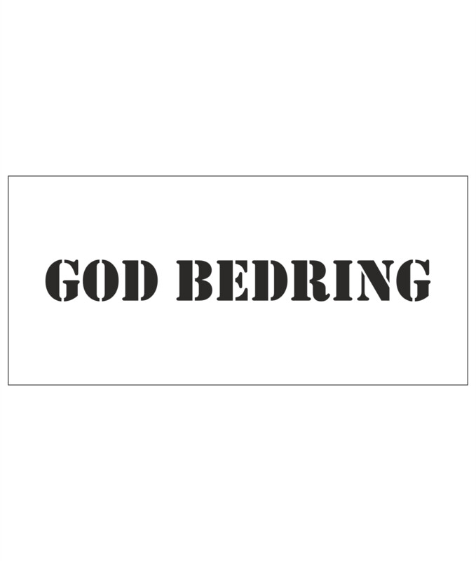 Stencils - God bedring