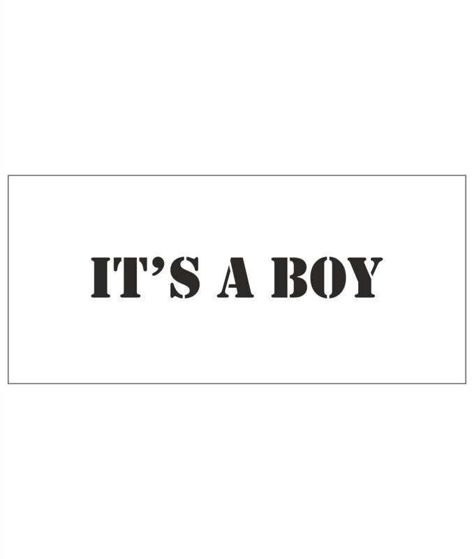 Stencils - It´s a boy