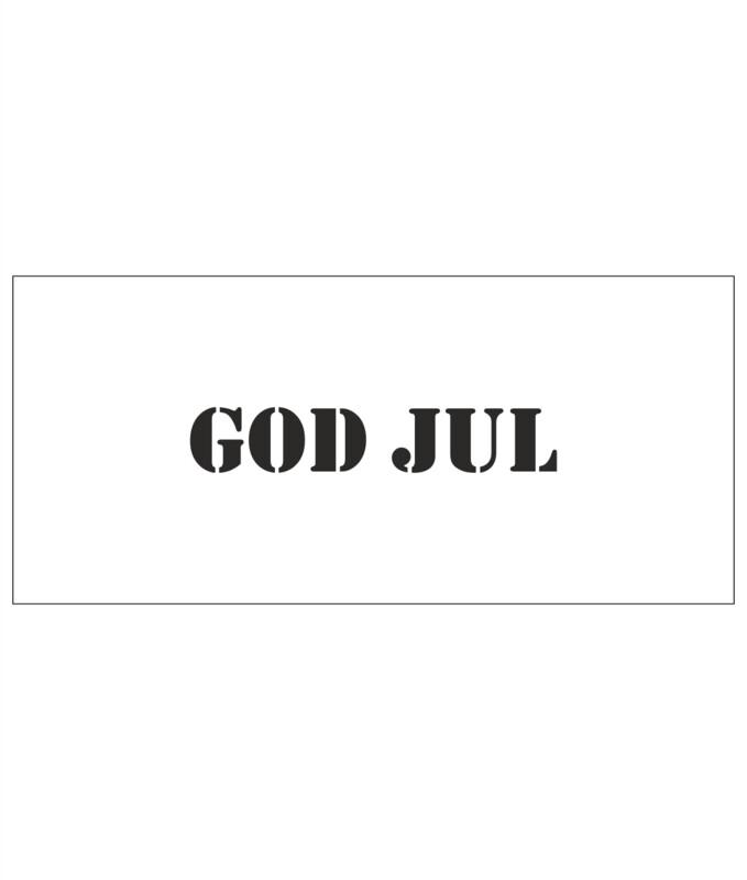 Stencils - God jul