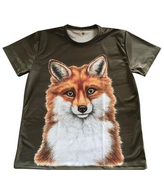 Fuldfarvet T-shirt med Sus Hjorth motiv - Ræv