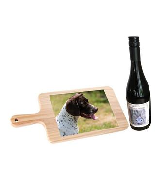Fars dags gave - Vin og spækbræt med DIT eget billede