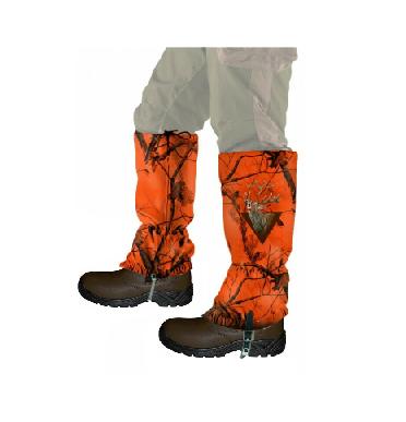 Læder støvle med gaiters