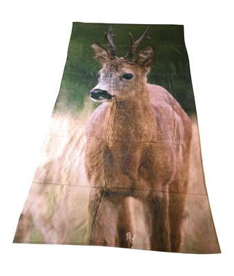Badehåndklæde med print af Råbuk